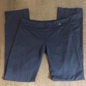 grey wide leg adidas stretchy leggings pre loved